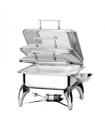 Chafing Dish Atosa GN2/3 à Induction Couvercle Hublot