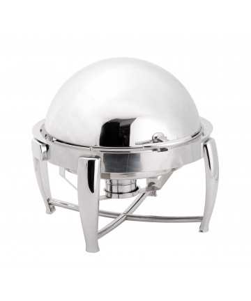 Chafing Dish Atosa Eco Rond 6L avec Couvercle Rabattable