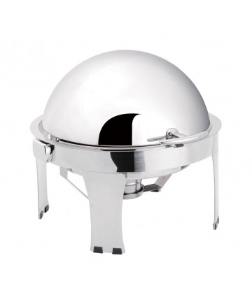 Chafing Dish Atosa Eco Rond avec Couvercle Rabattable